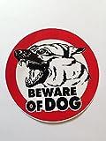 Beware of Dog Sign Sticker for Car Window Bumper Laptop Security Warning Alert Sticker Decals 10cm.