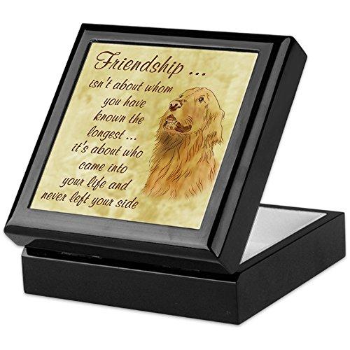 CafePress - Friendship - Dog - Keepsake Box, Finished Hardwood Jewelry Box, Velvet Lined Memento Box
