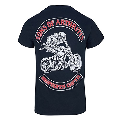 Sons of Arthritis Mens Ibuprofen Chapter Short Sleeve for sale  Delivered anywhere in USA