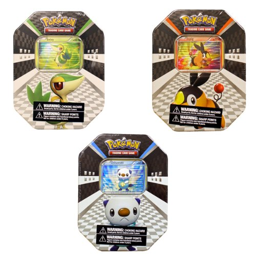 (Pokémon  USA TCG: 2011 Spring Collectors Tin Assortment  - Snivy, Tepig, and Oshawatt)