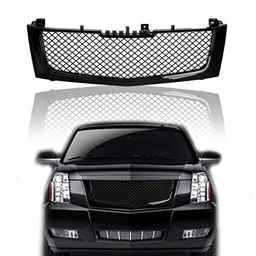 Black Front Mesh Grill Grille Bumper Fit 2002-2006 Cadillac Escalade EST ESV