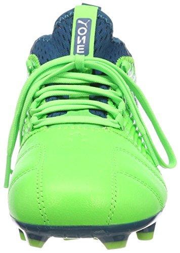 Vert Lagoon green Puma De Enfant 18 White puma Chaussures 3 deep Mixte Football Gecko One Jr Fg vvPa4qr