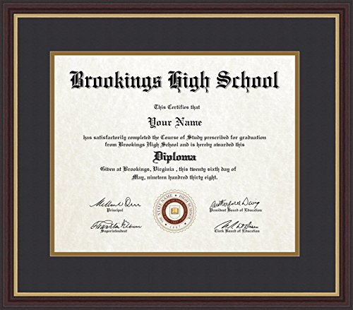 Amazon.com - ArtToFrames 14x17 Diploma Frame, Framed in Mahogany and ...