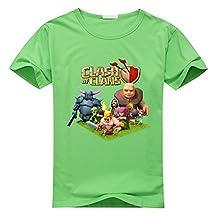 Custom Clash Of Clans Boy's Kids T-Shirt Green S