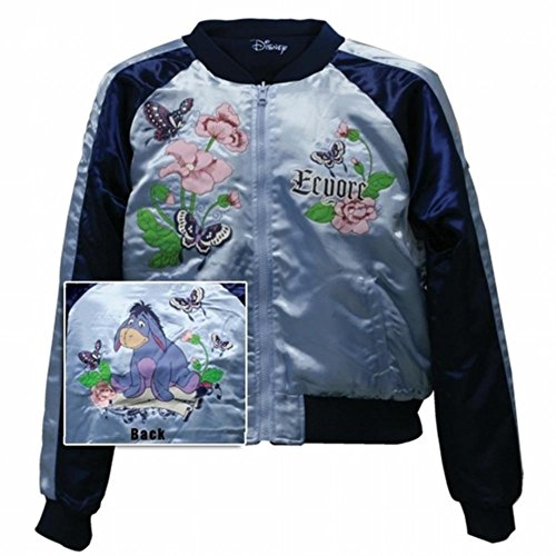 Winnie the Pooh - Eeyore Flowers Reversible Track Jacket - Small Light Blue ()