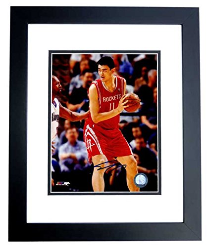 44687227d8c54 Yao Ming Signed - Autographed Houston Rockets 8x10 inch Photo BLACK ...
