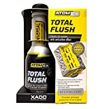 XADO Engine Oil System Cleaner Anti-Carbon Effect - Removes Contamination & Engine Sludge - ATOMEX Total Flush Revitalizant (Bottle, 250ml)