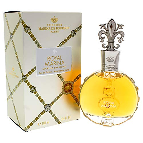 Royal Marina Diamond by Princesse Marina de Bourbon | Eau de Parfum Spray | Fragrance for Women | Fruity, Oriental, and Musky Scent with Notes of Vanilla and Tonka Bean | 100 mL / 3.4 fl oz