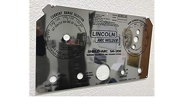 LINCOLN Arc Welders SA-200-163 Shield Arc L-5750 Black Face Control Plate New