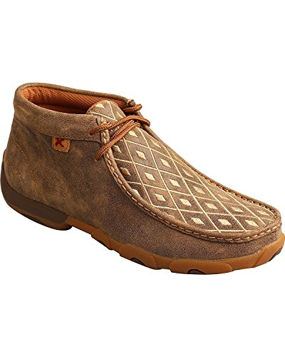 Twisted X Womens Driving Moccasins, Bomber/Tan, Size 7.5