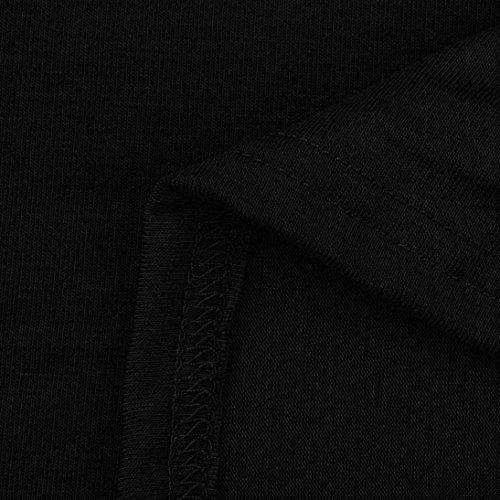 Chic Haut lgant Manches Courtes Noir Plier SANFASHION Ete Bouton Top Femme Shirt Amincissant Basique T Dbardeurs Tank 7qFYwA