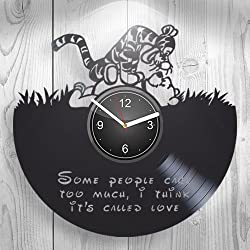 Winnie the Pooh Tigger, Cartoon Best Gift For Girl, Boy, Child, Children, Kidroom Wall Art, New Handmade Vinyl Wall Clock Decor, Decoration For Living Room Inspirational, Her Present, Unique Design