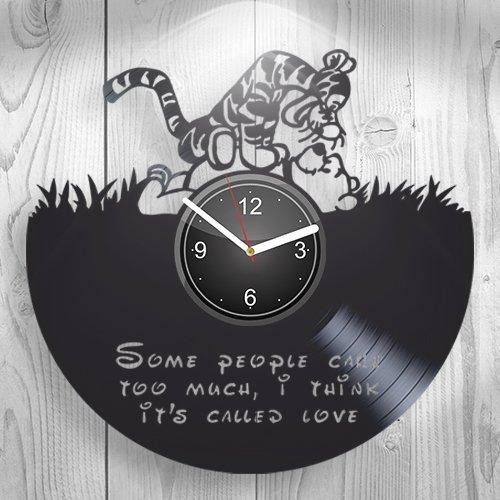 Winnie the Pooh Tigger, Cartoon Best Gift For Girl, Boy, Child, Children, Kidroom Wall Art, New Handmade Vinyl Wall Clock Decor, Decoration For Living Room Inspirational, Her Present, Unique Design