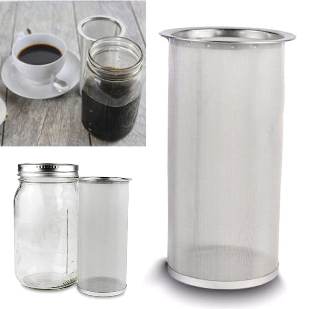 Taka Co Cold Brew Coffee Maker Cylindrical Cold Brew Coffee Maker Iced Tea Infuser Stainless Steel Filter