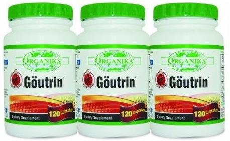 3 Three Bottle - Goutrin THREE BOTTLES -Uric Acid Neutralizer for Gout (3x120 = 360 Capsules) Brand: Organika