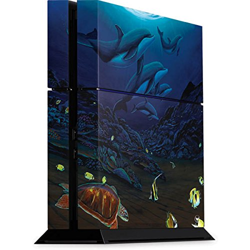 (Paintings PS4 Console Skin - Dolphins Turtles Swimming | Skinit Art Skin)