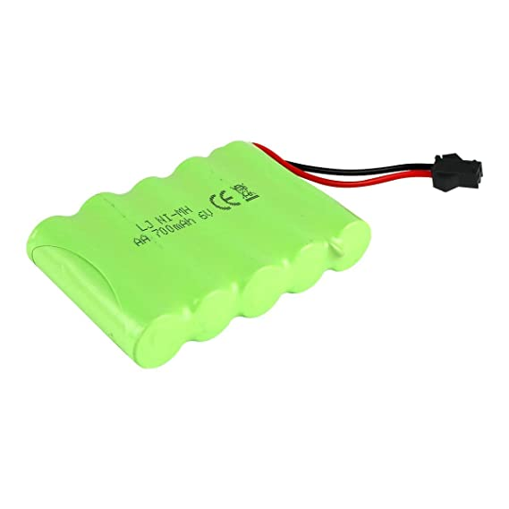 AA Rechargeable Battery Pack 6V 700mAh Ni Mh Batteries SM 2P Plug Connector High