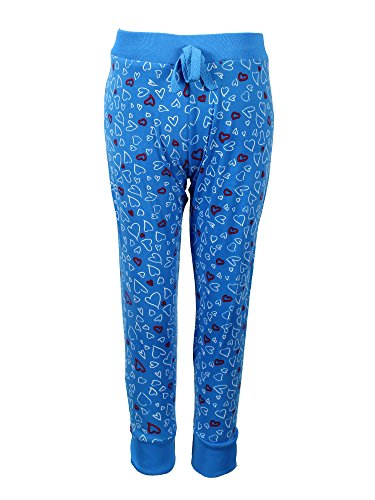 Crush Girls Printed Hearts Sweatpants Joggers Size 4 Blue (Sweatpants Twisted Heart)