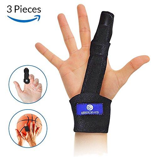 Bent Arrow Post (Finger Splint Rehab Kit for Trigger Finger, Mallet Finger, Broken Finger, Fractured or Bent Finger, Tendonitis, Arthritis, Tendon Pain Relief - Brace has Built-in Aluminum Support for Immobilization)