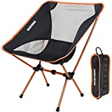 MARCHWAY Ultralight Foldable Camping Chair - Portable Folding Compact for Outdoor Camp Travel