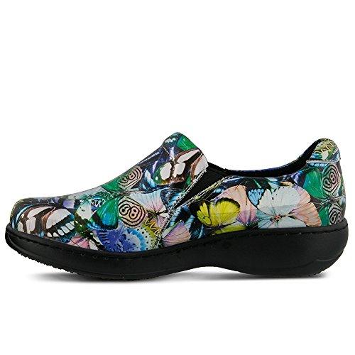 hot sale 2017 Spring Step Professional Womens Winfrey Vibe Shoe, BLUE MULTI, Size - 7.5