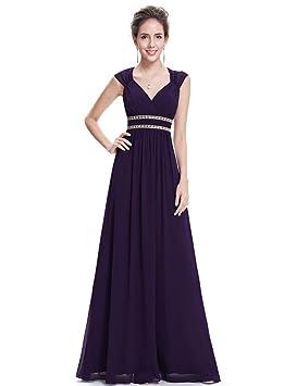 pengweiVestidos de novia vestidos de noche de fiesta escote en V hombros de largo bi-