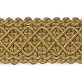Expo International Jolie Lattice Braid Trim Embellishment, 20-Yard, Gold