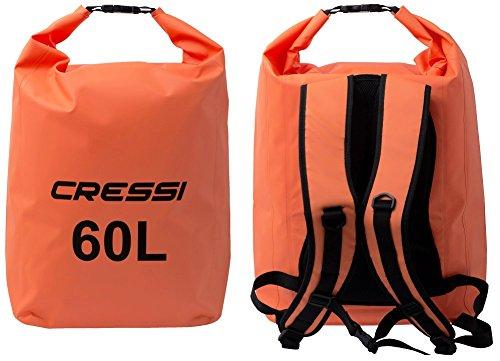 Cressi Dry Back Pack - Wasserdichte Taschen / Rucksack mit langem verstellbaren Schulterriemen - Für Tauchen, Bootfahren, Kajak, Angeln, Rafting, Schwimmen, Camping und Snowboarden Orange