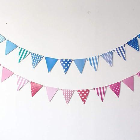 Banderines córnerColor Fiesta de cumpleaños Decoración de la ...