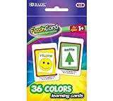 BAZIC Colors Preschool Flash Card, 36 Per Pack