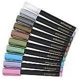 Colorful Metallic Markers FFor Kodak Mini & Kodak Dock Instant Printer Picture Projects) - Pack of 10