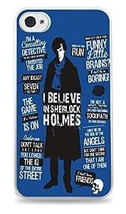 Sherlock Holmes Blue White Hardshell Case for ipad iphone 5c