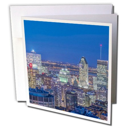 Danita Delimont - Canada - Canada, Quebec, Montreal, Skyline at twilight. - 6 Greeting Cards with envelopes (gc_208755_1)
