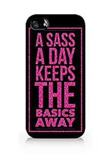 Cream Cookies - Typography Pattern Case - A Sass a Day Keeps the Basics Away Case - Apple iPhone 5 Case - Apple iPhone 5s Case - TPU Case - Hard Rubber Case