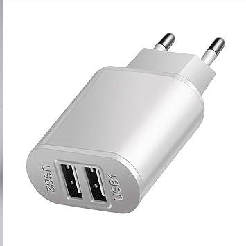 Proelio Cargador rapido Dual Blanco USB 5 V 2A teléfono ...