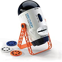 Incredible 2-In-1 Stars and Planet Space Projector By Discovery Kids, Explore Galaxies, Planets and Nebulas, 360 Automatic Rotation, 3 x 24 Stunning Slides, Incredible Clarity