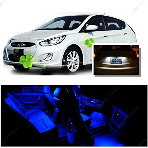 ights Interior Package + White LED License Plate Kit for Hyundai Accent 2012-2016 (6 Pieces) ()