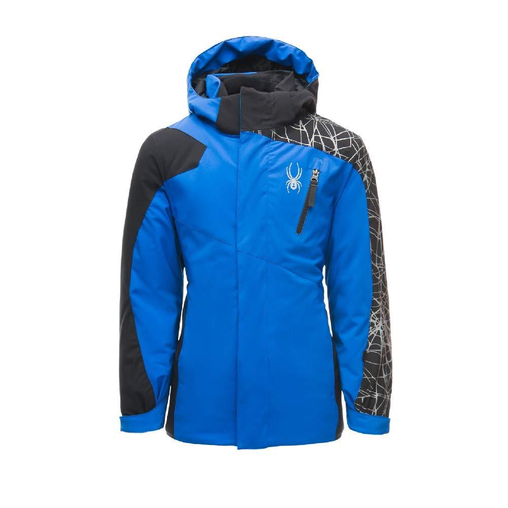 Spyder Boys' Guard Ski Jacket, Turkish Sea/Black, Size 10