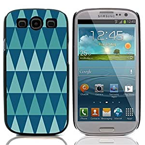 Graphic4You SHARP BLUE TRIANGLES PATTERN HARD CASE COVER FOR Samsung Galaxy S3 S III