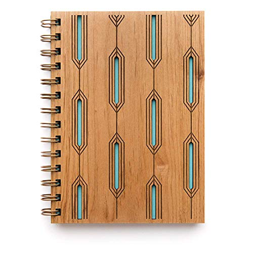Quartz Laser Cut Wood Journal (Notebook/Birthday Gift/Gratitude Journal/Handmade)