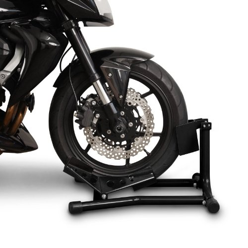 Motorcycle Stand Harley Davidson Sportster 883 Iron XL 883 N Paddock Front Wheel Chock Transport Universal Black ConStands Easy