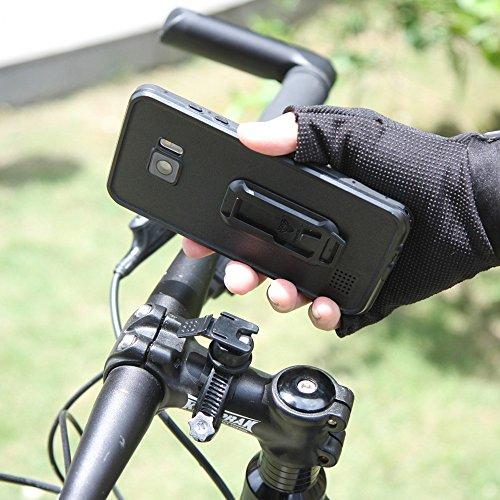 wasserfeste Smartphone Hülle mit Bumper für das INNOVATIVE HALTERUNGSSYSTEM von Armor-X mit zahlreichem Zubehör für Helm, Fahrrad, Auto, Sport, Laufen - durchsichtige Schutzhülle Cover Smartphone Hüll