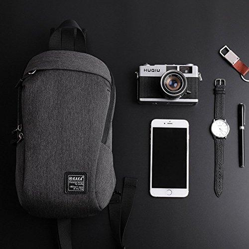 messenger gris de mochila GossipBoy hombre crossbody gris bag sling deportivo ligera ligero deporte pequeño bolso escolar tamaño pecho color mochila mochilas para 1qngBw16