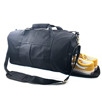 Carry On Luggage Bag Sports Gym Bags Travel Duffel Bag Black