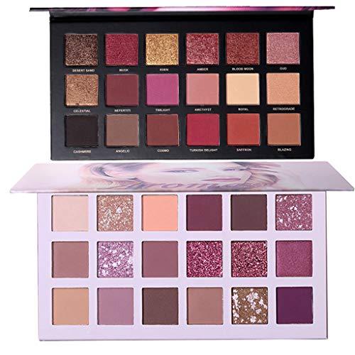 Eyeshadow Makeup Palette,Waterproof Eye Shadow,18 Color Waterproof Eye Shadow Plate Powder Matt Eyeshadow ()