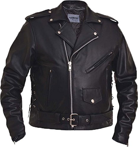 Unik Men's Traditional Premium Motorcycle Jacket with Side Laces