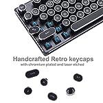 Migree USB Backlit Retro Typewriter Mechanical Keyboard-Khail Blue/Brown Switch-Full Metal Boby–LED Vintage Inspired Steampunk Gaming Keyboard–Mechanical Gaming Keyboard for PC/Mac/Gamer/Typist 7