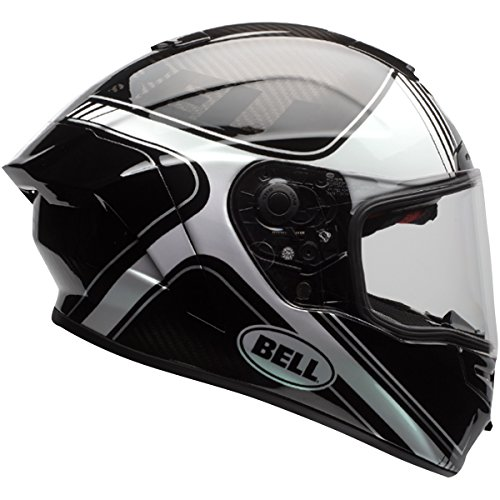 Race Star (Bell Race Star Full-Face  Motorcycle Helmet (Tracer Gloss Black/White, Large)(Non-Current Graphic))
