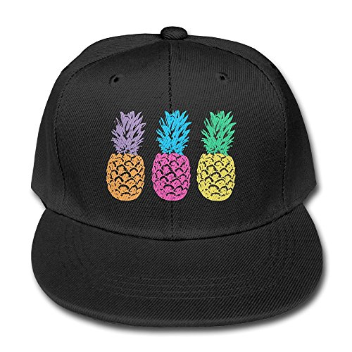 YSDISJE colorful Triple Pineapple Art Bone Kid Hip Hop Baseball Cap Toddler Snapback Hat For Boys Girls Ridiculous Adjustable Cool Trucker Plain Flat Hats For Dance,Neo-Jazz,Street (Ridiculous Hats)