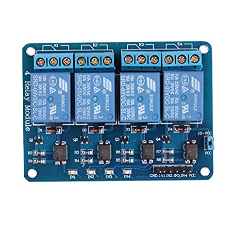 KOOKYE 4 Channel 5V Relay Module Expansion Board Shield For Arduino PIC AVR DSP ARM - Four Channel Module